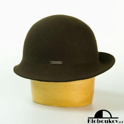 Módní dámský klobouk vhodný ke kostýmku a šatům - zelený
