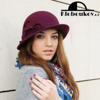 Prudce elegantní vlněný dámský klobouček
