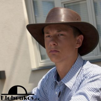 Exkluzivní kožený westernový klobouk Barmah hats