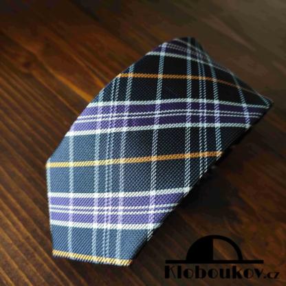 Kravata k obleku fialová/černá