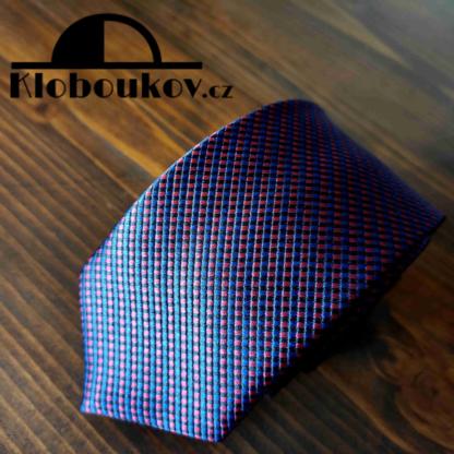 Kravata k obleku modrá/červená