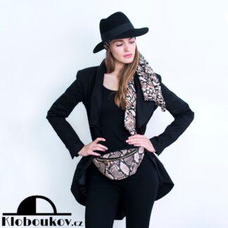 Luxusní černý klobouk pánského stylu pro dámy