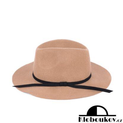 Dámský béžový klobouk Fedora